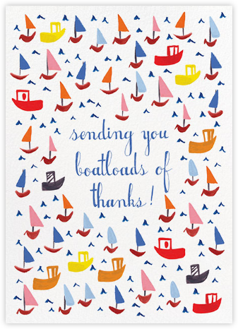 Boatloads - Mr. Boddington's Studio - Online Thank You Cards
