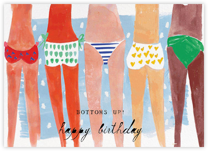 Bottoms Up - Mr. Boddington's Studio - Birthday Cards