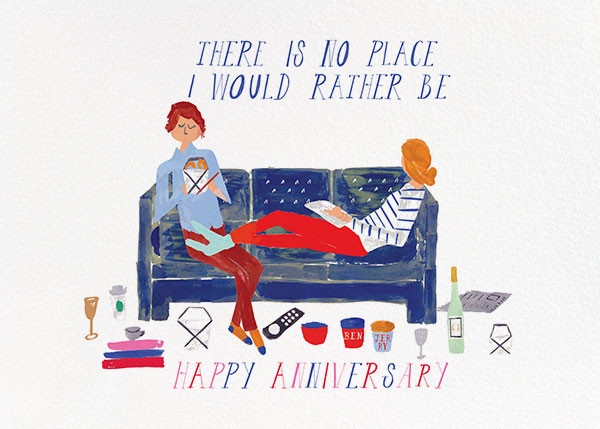 Cheers from the Couch - Mr. Boddington's Studio - Anniversary cards