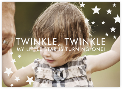 Twinkle, Twinkle - Paper + Cup - First birthday and baby birthday invitations