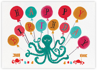 Eight Balloons - Mr. Boddington's Studio - Birthday Cards