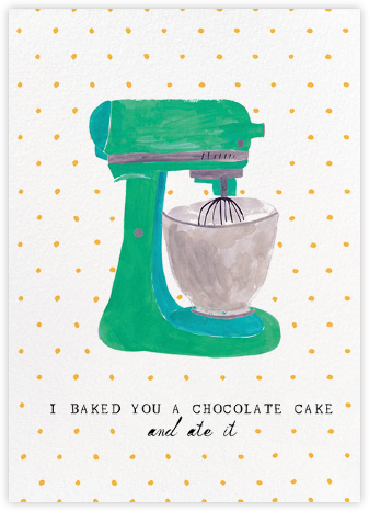 Kitchen Aid - Mr. Boddington's Studio - Online Greeting Cards