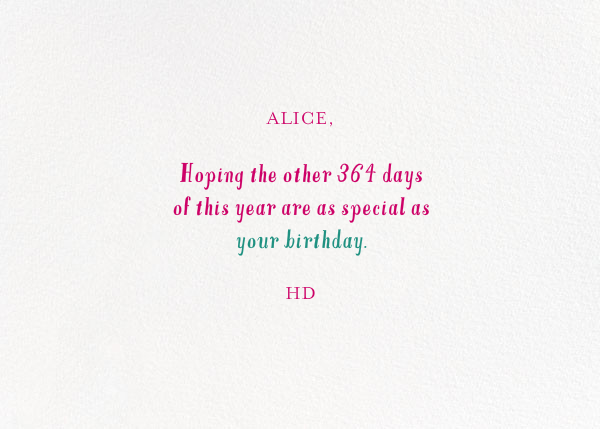 Mermaid's Birthday - Mr. Boddington's Studio - Birthday cards - card back