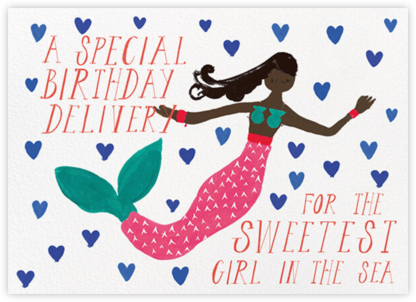 Mermaid's Birthday - Deep - Mr. Boddington's Studio - Birthday Cards