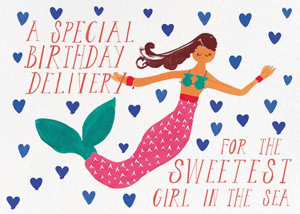 Mermaid's Birthday - Mr. Boddington's Studio - Birthday cards