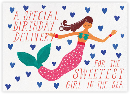 Mermaid's Birthday - Mr. Boddington's Studio - Greeting cards
