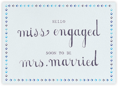 Miss to Mrs. - Mr. Boddington's Studio - Wedding Congratulations Cards
