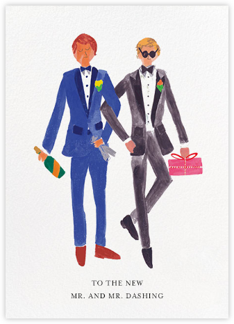 Mr. and Mr. Dashing (Greeting) - Mr. Boddington's Studio - Greeting cards