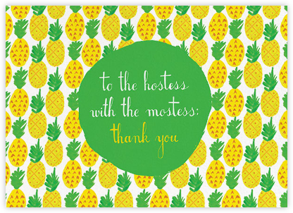 Pineapple for My Hostess - Mr. Boddington's Studio - Online Thank You Cards