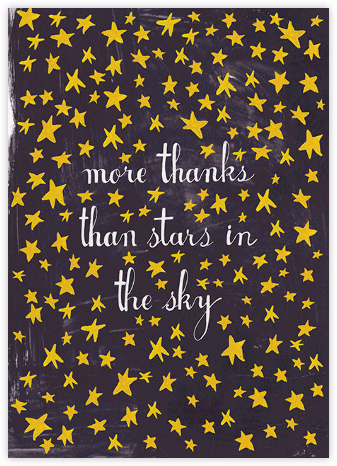 Stars in the Sky - Mr. Boddington's Studio - Online Thank You Cards