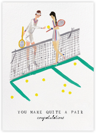 Tennis is for Lovers - Fair/Light - Mr. Boddington's Studio - Wedding Congratulations Cards