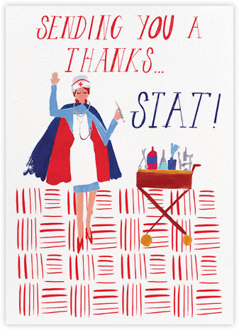 Thank You Stat - Sherbet - Mr. Boddington's Studio - Online Cards