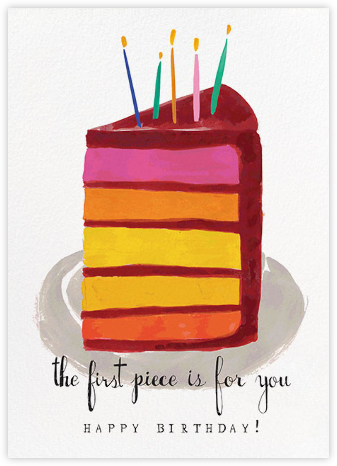 The First Piece - Mr. Boddington's Studio - Birthday Cards