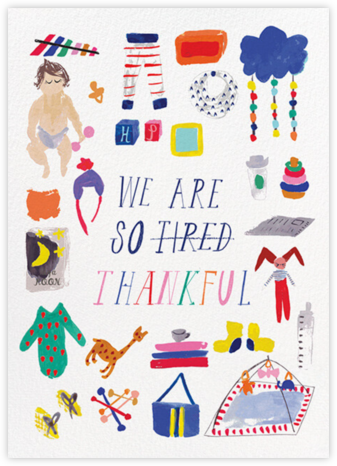 We are so Tired - Fair - Mr. Boddington's Studio - Online Thank You Cards
