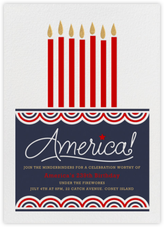 Happy Birthday, America - Paperless Post - Invitations