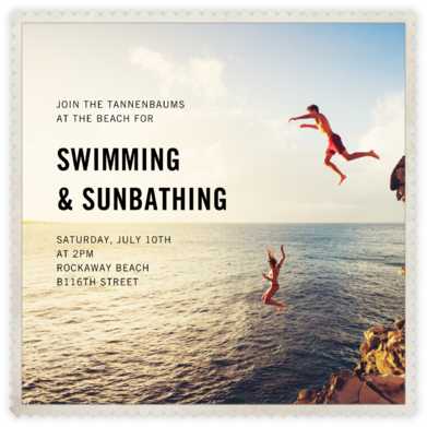Sawtooth (Square) - Paperless Post - Beach Party Invitations
