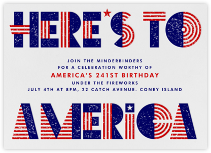 Cheers, America - Paperless Post - Invitations