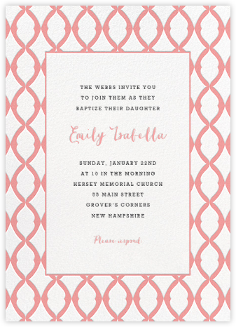 Lady Bexborough - Blossom - Paperless Post - Baptism invitations
