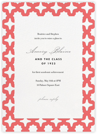Palm Springs - Coral - Paperless Post - Celebration invitations