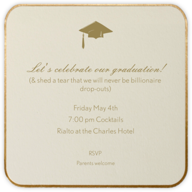 Saint Germain (Small Square) - Paperless Post - Celebration invitations