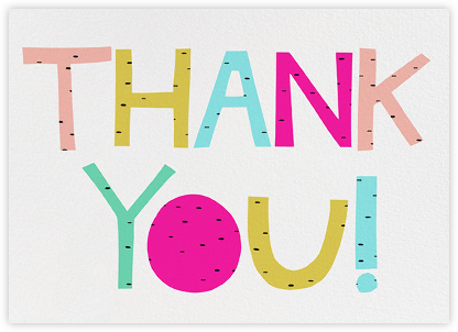 Sparkled Thank You - Ashley G - Graduation Thank You Cards