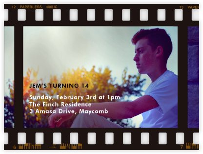 Film Still - Horizontal - Paperless Post - Kids' birthday invitations