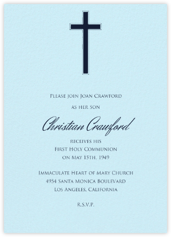 Glacier - Paperless Post - First communion invitations