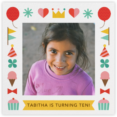 Birthday Treats - Petit Collage - Online Kids' Birthday Invitations
