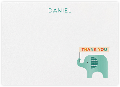 Elephant (Stationery) - Blue - Petit Collage - Online greeting cards