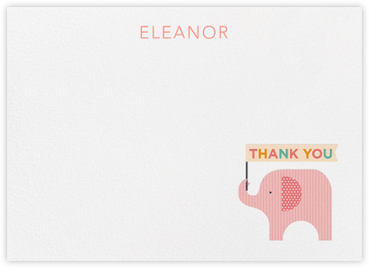 Elephant (Stationery) - Pink - Petit Collage -