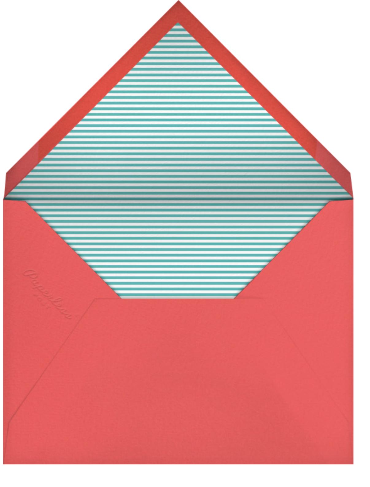 Elephant (Stationery) - Pink - Petit Collage - Kids' stationery - envelope back