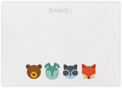 Faces (Stationery) - Petit Collage - Baby and kids' stationery
