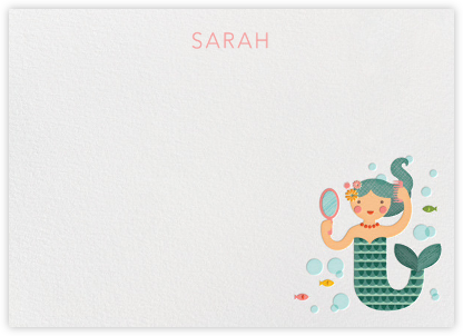 Mermaid (Stationery) - Petit Collage - Online greeting cards