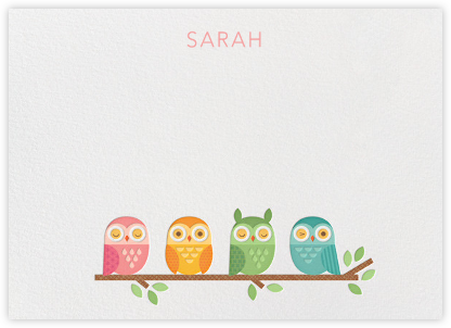 Owl (Stationery) - Petit Collage - Baby and kids' stationery