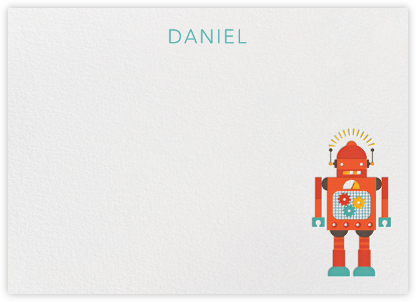 Robot (Stationery) - Petit Collage - Baby and kids' stationery