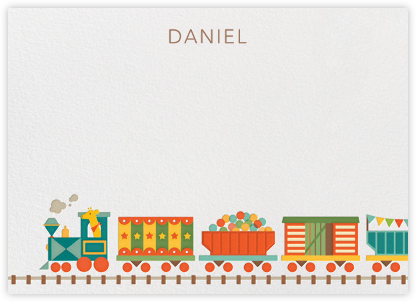 Train (Stationery) - Petit Collage - Baby and kids' stationery