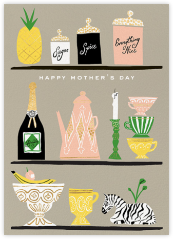 Kitchen Shelves (Greeting) - kate spade new york - Mother's Day Cards