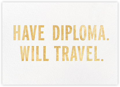 Have Diploma - Gold - kate spade new york - Online Party Invitations