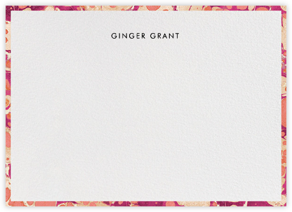 Oil Drop (Stationery) - Fuchsia - Jonathan Adler - Personalized Stationery