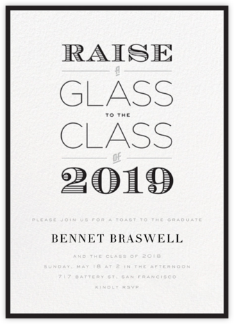 A Glass to the Class - Black - bluepoolroad - bluepoolroad invitations and cards
