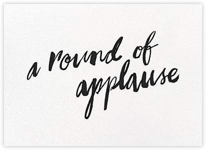A Round of Applause - White/Black - kate spade new york - Online Greeting Cards