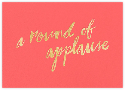 A Round of Applause - Coral/Gold - kate spade new york - Online Greeting Cards