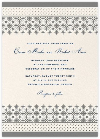 Jemma Street (Invitation) - Gray - kate spade new york - Wedding Invitations