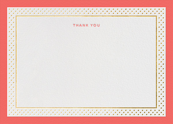 Jemma Street (Stationery) - Coral - kate spade new york - Wedding thank you notes