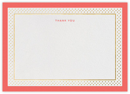 Jemma Street (Stationery) - Coral - kate spade new york - Wedding thank you cards