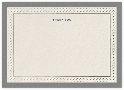 Jemma Street (Stationery) - Gray - kate spade new york - Wedding thank you notes