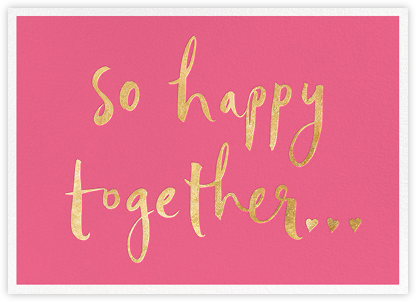 So Happy Together - Pink - kate spade new york - Anniversary Cards