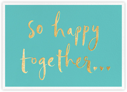 So Happy Together - Blue - kate spade new york - Kate Spade invitations, save the dates, and cards