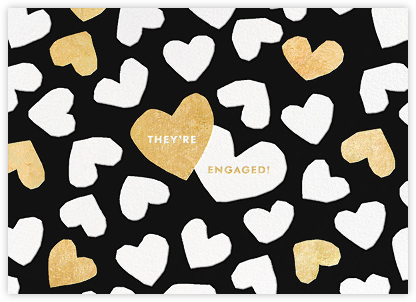 Dancing Hearts - Black - kate spade new york - Engagement party invitations