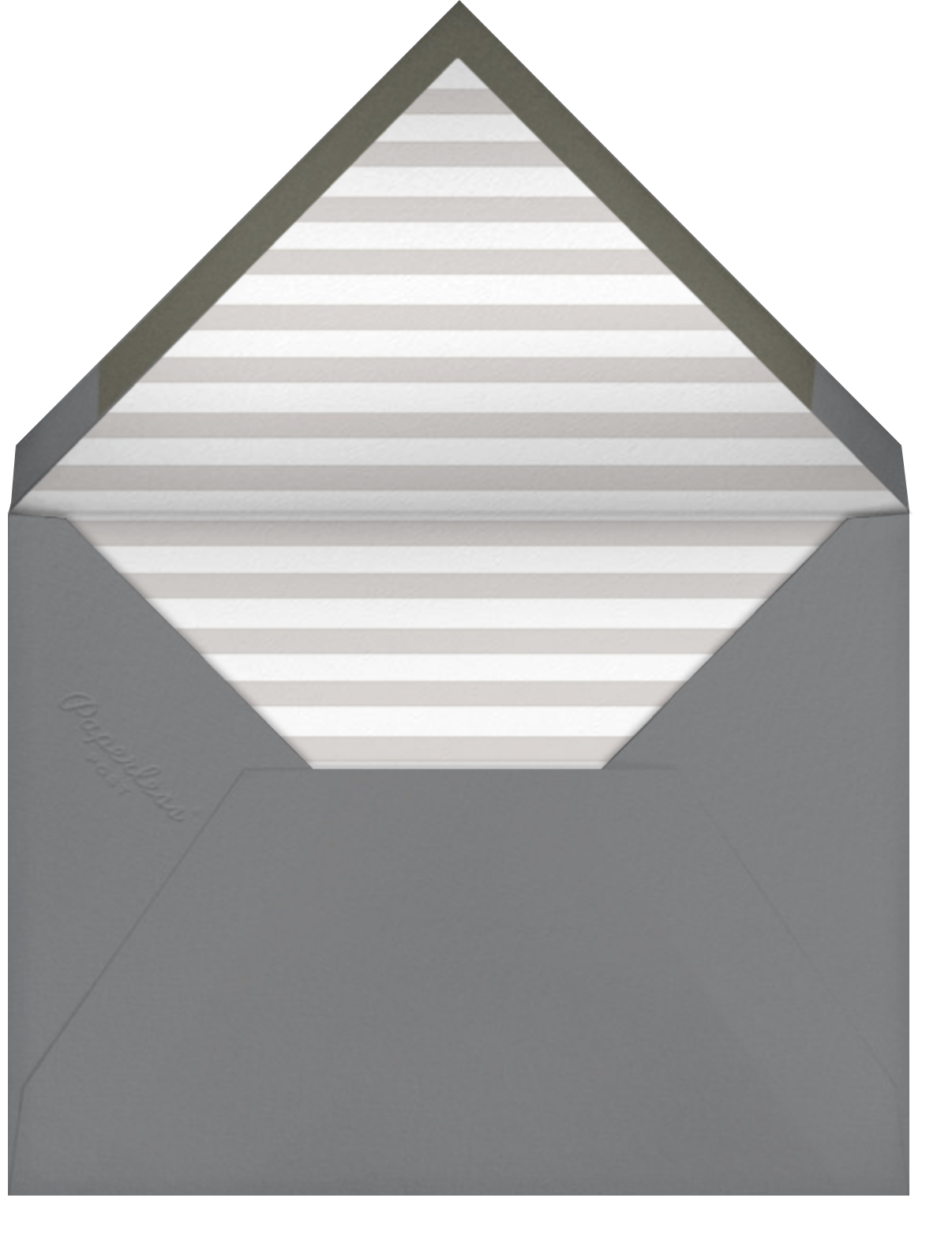 Pinstripe Numerals (Twenty-Five) - Paperless Post - Envelope